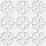 Vector 3d seamless flower abstract pattern. Minimalistic monochrome background for decoration, wallpaper and print. Eps10 Stock Image