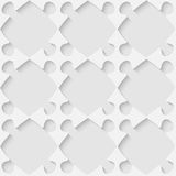 Vector 3d seamless puzzle pattern Royalty Free Stock Photography