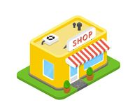 Vector 3d shop Royalty Free Stock Photo