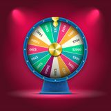 Vector 3D Spinning Fortune Wheel, Realistic Style Lucky Roulette Illustration. High Quality Vector Illustration in EPS 10 Stock Photos