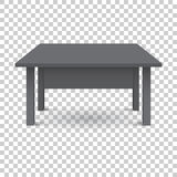 Vector 3d table for object presentation. Royalty Free Stock Image