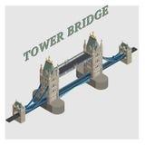 vector 3d torenbrug Londen Engeland Royalty-vrije Stock Afbeeldingen