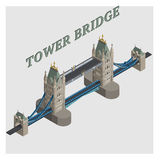 vector 3d tower bridge london england Royalty Free Stock Images