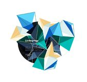 Vector 3d triangle abstract background. Design stock illustration