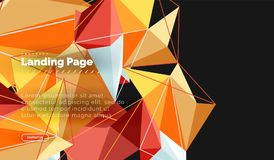 Vector 3d triangle abstract background vector illustration