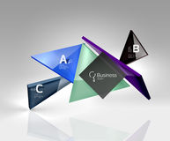 Vector 3d triangle abstract background Royalty Free Stock Photos