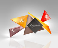 Vector 3d triangle abstract background Stock Photo