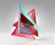 Vector 3d triangle abstract background. Glass geometry shapes Stock Photo