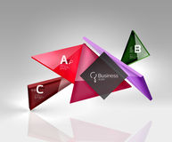 Vector 3d triangle abstract background Royalty Free Stock Photography
