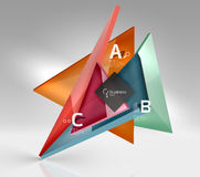 Vector 3d triangle abstract background Stock Image