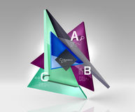 Vector 3d triangle abstract background Stock Photography