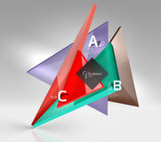 Vector 3d triangle abstract background Royalty Free Stock Images
