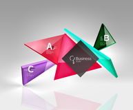 Vector 3d triangle abstract background. Glass geometry shapes Royalty Free Stock Photos