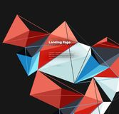Vector 3d triangle abstract background, polygonal geometric design. Vector 3d triangle abstract background, polygonal geometric modern design Stock Illustration