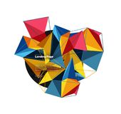 Vector 3d triangle abstract background, polygonal geometric design. Vector 3d triangle abstract background, polygonal geometric modern design Royalty Free Illustration