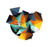 Vector 3d triangle abstract background, polygonal geometric design. Vector 3d triangle abstract background, polygonal geometric modern design Vector Illustration