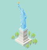 Vector 3d Vlak Isometrisch Monument royalty-vrije illustratie