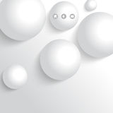 Vector 3d white sphere metallic background Royalty Free Stock Images