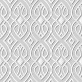 Vector da curva sem emenda do fundo 182 do teste padrão da arte do papel 3D do damasco a linha transversal Ilustração do Vetor