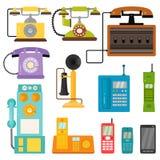 Vector da tecnologia retro do dispositivo da conexão do número de chamada telefônica do lod dos telefones do vintage a ilustração ilustração do vetor