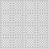 Vector da verificação sem emenda do fundo 316 do teste padrão da arte do papel 3D do damasco o polígono transversal Imagem de Stock Royalty Free