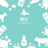 Vector dairy illustrations. Royalty Free Stock Photos