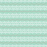Vector Daisy Stripes on Light Green with Red Dots seamless pattern background. stock illustration