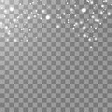 Vector dalend geïsoleerd sneeuweffect op transparante achtergrond met vaag bokeh royalty-vrije illustratie