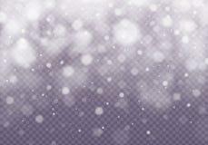 Vector dalend sneeuweffect stock afbeeldingen