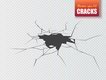 Vector damage ground abstract background. Earth cracks. Illustration Royalty Free Stock Photos