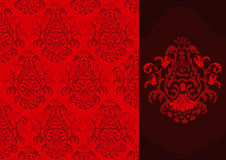 Vector damask pattern Stock Photography