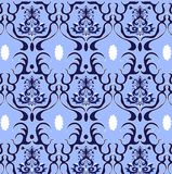 Vector.damask pattern. Damask Vector Pattern in blue and white colors. Elegant Design in Royal Baroque Style Background Texture. Floral and Swirl Element. Ideal Royalty Free Stock Photos