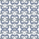 Vector damask pattern ornament. Elegant luxury texture for textile, fabrics or wallpapers backgrounds. Blue Vector damask pattern ornament. Elegant luxury Royalty Free Stock Photography