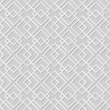 Vector damask seamless 3D paper art pattern background royalty free illustration