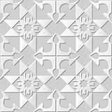 Vector damask seamless 3D paper art pattern background 161 Arrow Cross Check Stock Photography