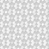 Vector damask seamless 3D paper art pattern background 039 Check Geometry Royalty Free Stock Photos