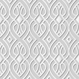 Vector damask seamless 3D paper art pattern background 182 Curve Cross Line. Antique paper art retro abstract seamless pattern background Stock Photography
