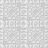 Vector damask seamless 3D paper art pattern background 008 Kaleidoscope Cross Stock Photos