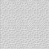 Vector damask seamless 3D paper art pattern background 288 Polygon Cross Rope Royalty Free Stock Photos