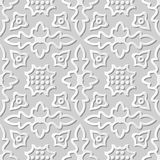 Vector damask seamless 3D paper art pattern background 098 Round Curve Ross. Antique paper art retro abstract seamless pattern background Royalty Free Stock Photo