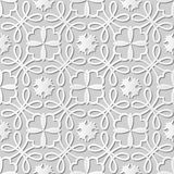 Vector damask seamless 3D paper art pattern background 098 Round Curve Ross. Antique paper art retro abstract seamless pattern background.n Stock Photography
