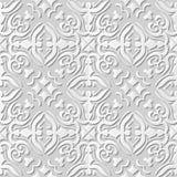 Vector damask seamless 3D paper art pattern background 055 Spiral Cross Kaleidoscope Royalty Free Stock Photos
