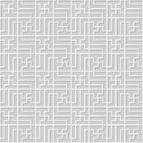 Vector damask seamless 3D paper art pattern background 339 Spiral Rectangle Cross Stock Photo