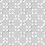 Vector damask seamless 3D paper art pattern background 173 Square Cross Flower Royalty Free Stock Images