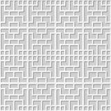 Vector damask seamless 3D paper art pattern background 286 Square Cross Geometry stock illustration