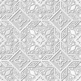Vector damask seamless 3D paper art pattern background 238 Square Cross Kaleidoscope Stock Photos