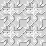 Vector damask seamless 3D paper art pattern background 020 Star Cross Frame Royalty Free Stock Photo