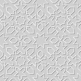 Vector damask seamless 3D paper art pattern background 003 Star Geometry Line Royalty Free Stock Photos