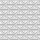 Vector damask seamless 3D paper art pattern background 365 Triangle Spiral Cross Stock Photography