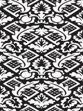 Vector damask seamless floral pattern black and white background Stock Photo